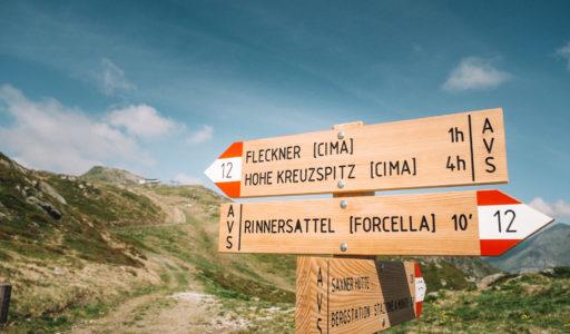 Auf dem Passeirer Höhenweg in Südtirol