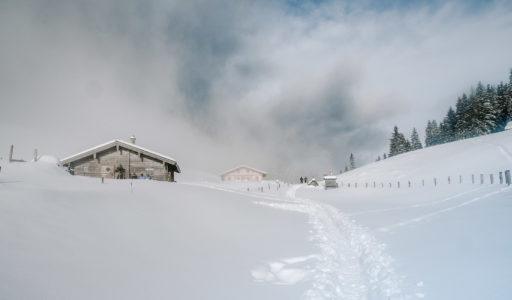 Schneeschuh Test an der Mordaualm