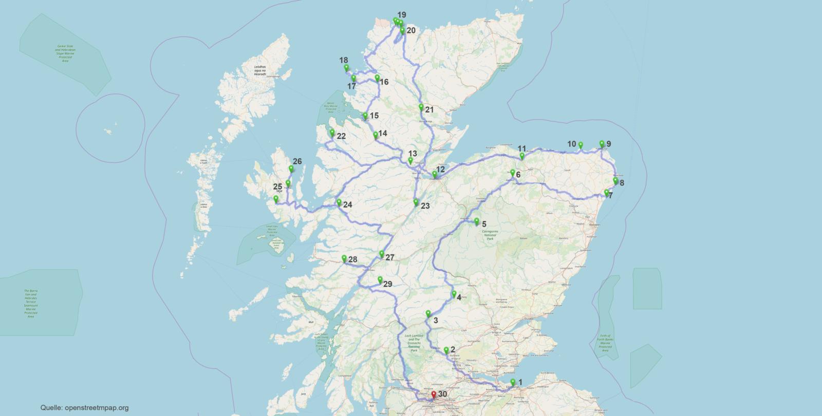 Schottland – kreuz und quer mit Wohnmobil