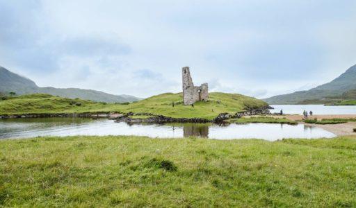Schottland-Ardvreck Castle und Achmelvich Bay