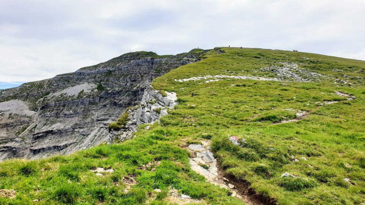 Der Gipfel des Schafreuter in Sichtweite