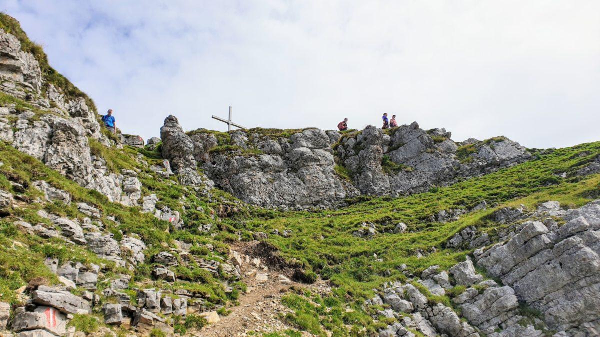 Das Gipfelkreuz des Schafreuter