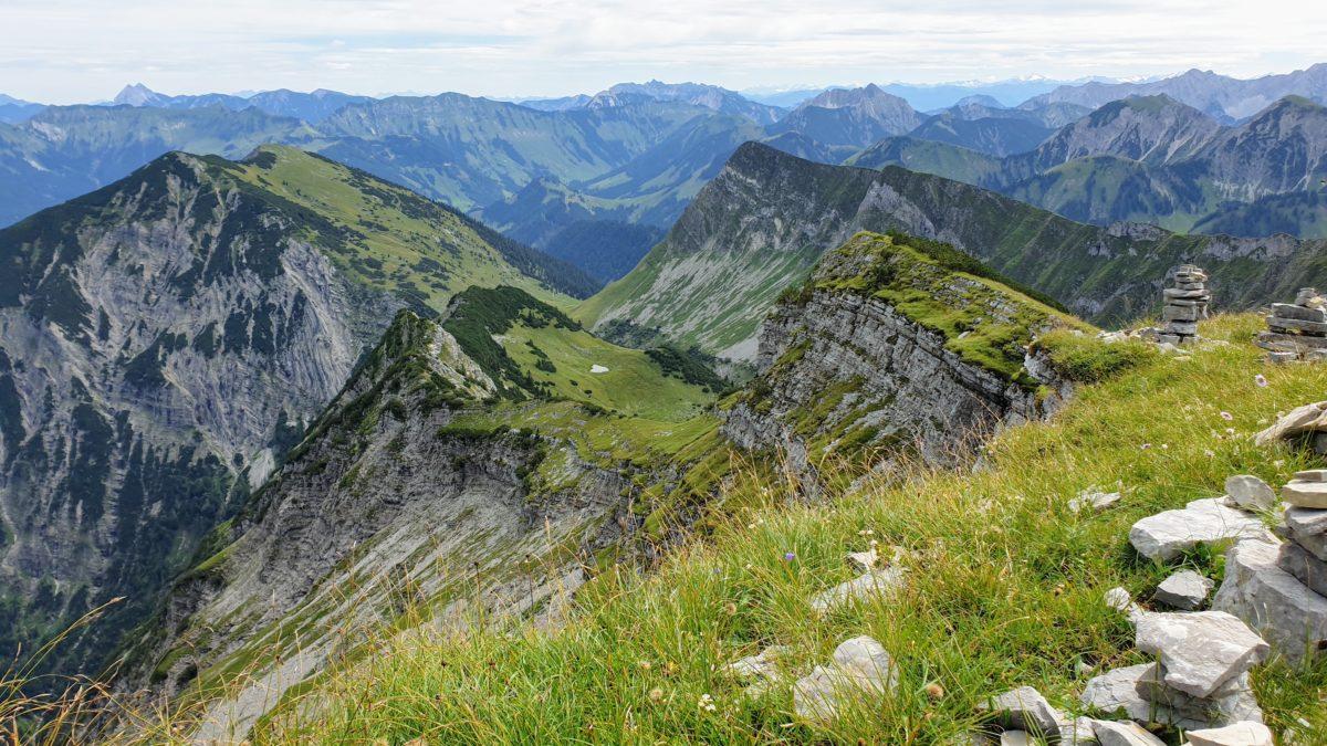 Der Blick vom Schafreuter im Karwendel