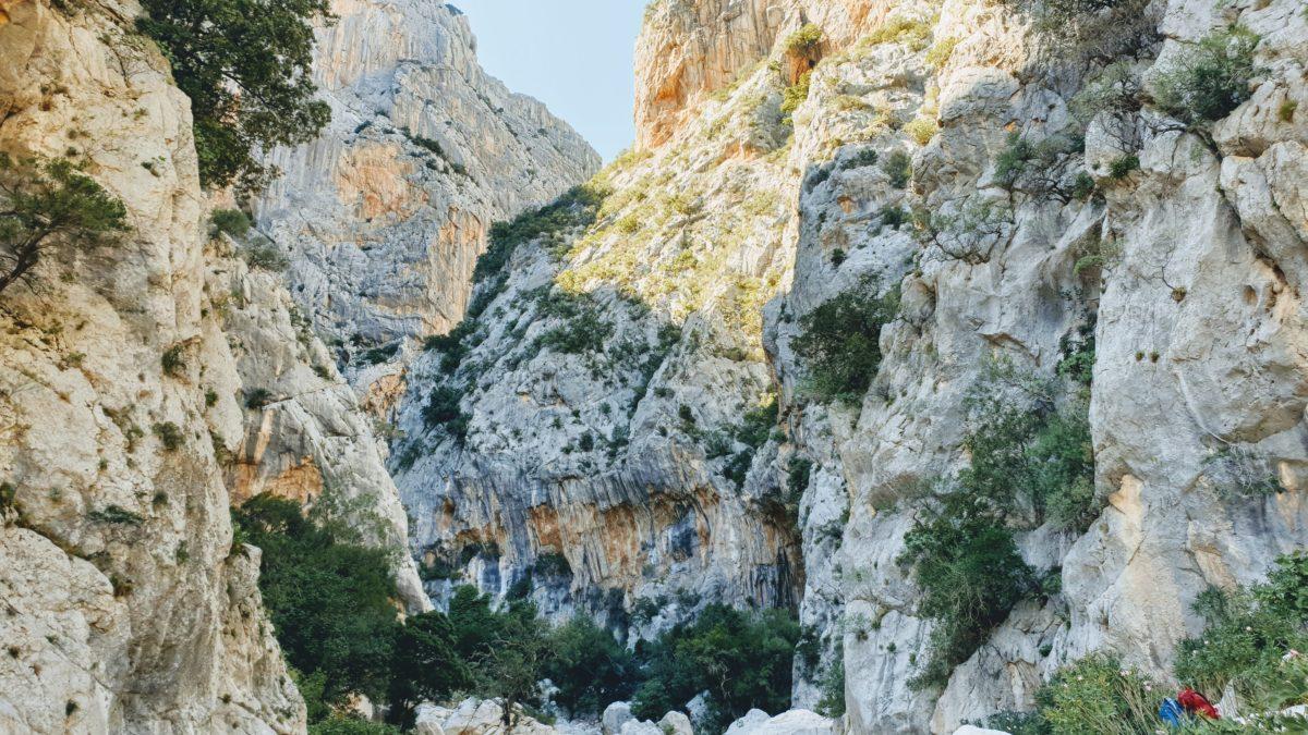 Die Felsen in der Gola di Gorropu